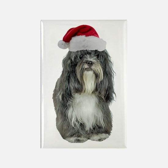 Tibetan Terrier Christmas Rectangle Magnet