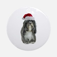Tibetan Terrier Christmas Ornament (Round)