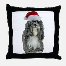 Tibetan Terrier Christmas Throw Pillow