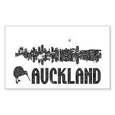 Auckland Skyline Vintage Rectangle Bumper Stickers