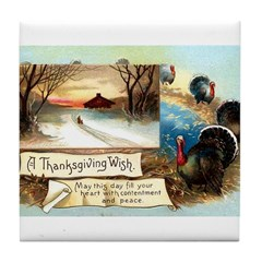 Contentment and Peace Tile Coaster