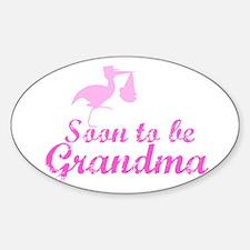 Soon to be Grandma Oval Decal