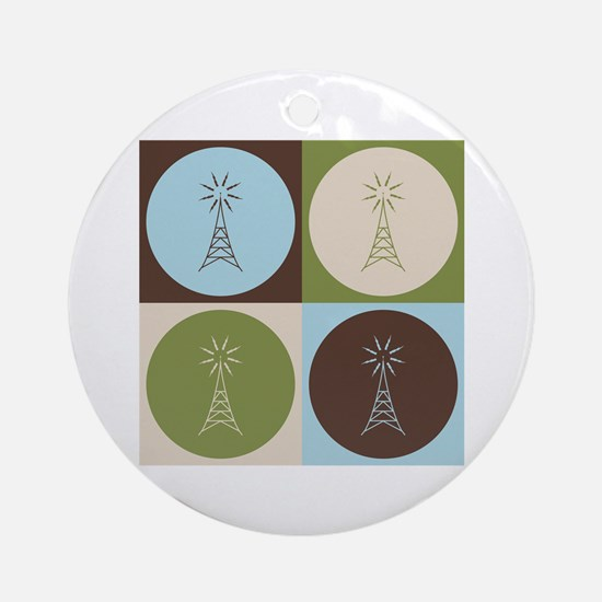 Amateur Radio Pop Art Ornament (Round)