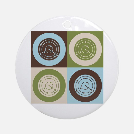 Air Traffic Control Pop Art Ornament (Round)