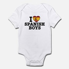 I Love Spanish Boys Infant Bodysuit