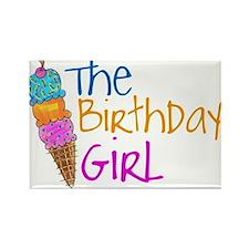The Birthday Girl Rectangle Magnet