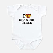 I Love Spanish Girls Infant Bodysuit
