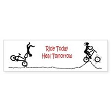 Mountain Biking Ride Today Bumper Car Sticker