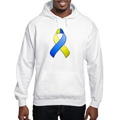 Blue and Yellow Awareness Ribbon Hoodie