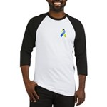 Blue and Yellow Awareness Ribbon Baseball Jersey