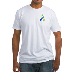 Blue and Yellow Awareness Ribbon Shirt