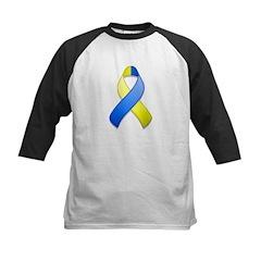 Blue and Yellow Awareness Ribbon Kids Baseball Jer
