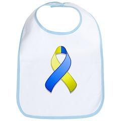 Blue and Yellow Awareness Ribbon Bib