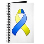 Blue and Yellow Awareness Ribbon Journal