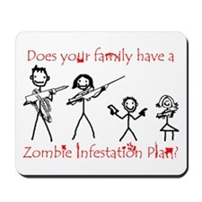 """Family Zombie Plan"" Mousepad"
