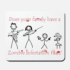 """""""Family Zombie Plan"""" Mousepad"""