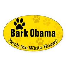 Bark Obama Fetch White House Oval Decal