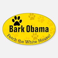 Bark Obama Fetch White House Oval Decal