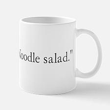 Good times. Noodle salad. Mug