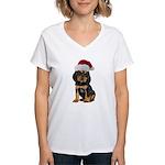Gordon Setter Christmas Women's V-Neck T-Shirt