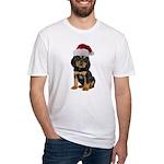 Gordon Setter Christmas Fitted T-Shirt