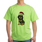 Gordon Setter Christmas Green T-Shirt