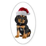 Gordon Setter Christmas Oval Sticker
