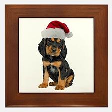 Gordon Setter Christmas Framed Tile