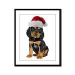 Gordon Setter Christmas Framed Panel Print