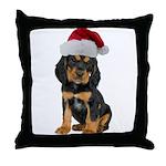 Gordon Setter Christmas Throw Pillow