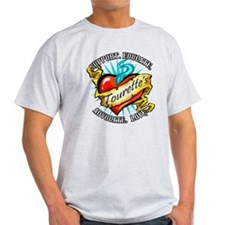 Tourette's Tattoo Heart T-Shirt