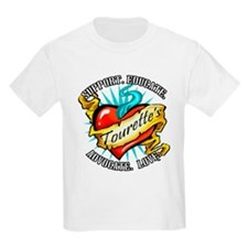 Tourette's Tattoo Heart T-Shirt