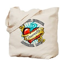 Tourette's Tattoo Heart Tote Bag