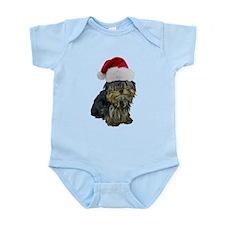 Santa Yorkie Infant Bodysuit