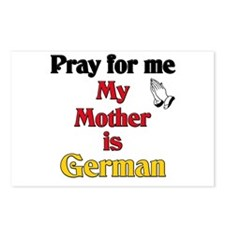 Pray for me my mother is German Postcards (Package