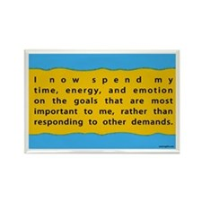 My important goals Rectangle Magnet