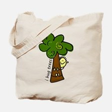 I Hug Trees Tote Bag