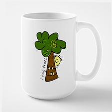 I Hug Trees Large Mug