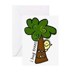 I Hug Trees Greeting Card