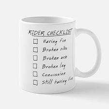 Humorous Rider Checklist, funny Mug