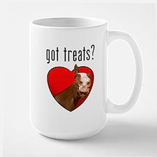 Got Treats? Cute Horse Large Mug
