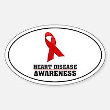 Heart Disease Awareness Oval Decal