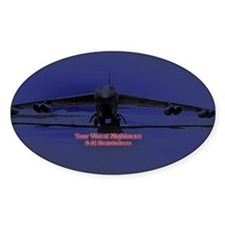 B-52 Bomber Oval Decal