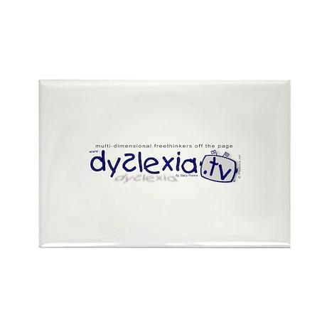 Dyslexia.tv Logo Rectangle Magnet (100 pack)