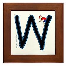 W (Boy) Framed Tile