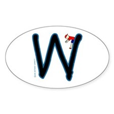 W (Boy) Oval Decal