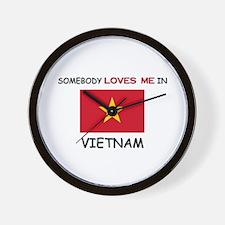 Somebody Loves Me In VIETNAM Wall Clock