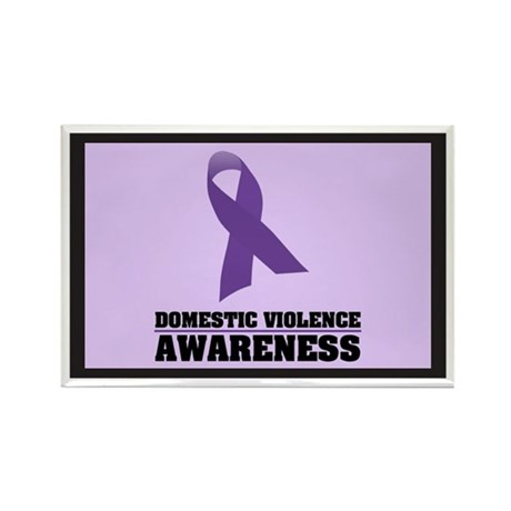 DV Awareness Rectangle Magnet