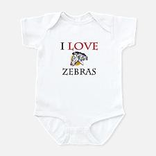 I Love Zebras Infant Bodysuit