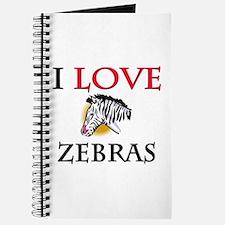 I Love Zebras Journal